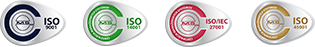 ISO certificate icons
