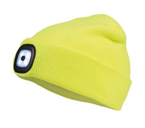 Cerva Deel zimná čiapka s Led svetlom, žltá