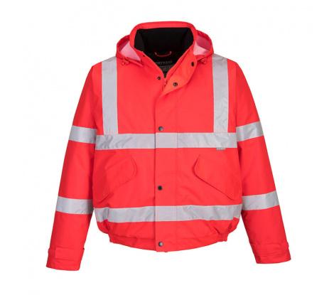 Reflexná pracovná bunda Portwest S463 červená veľ. XL