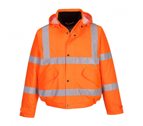 Reflexná pracovná bunda Portwest S463 oranžová veľ. 3XL