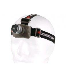 LED čelovka s hliníkovým telom