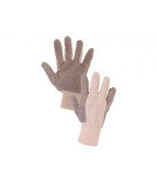 Textilné rukavice CXS GABO s PVC terčíkmi