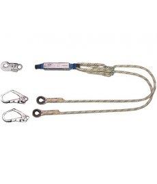 Tlmič pádu ABM s 2 lanami 3 karabínami