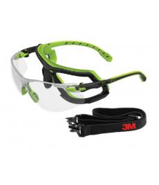 Ochranné okuliare 3v1 3M Solus S1201SGAF-TSKT